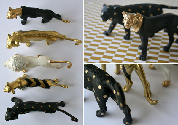 Black_gold_spraypaint_animals