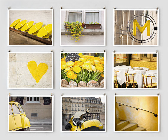 Paris Photo Collection, Yellow - Fine Art Photographs - Giclée Prints