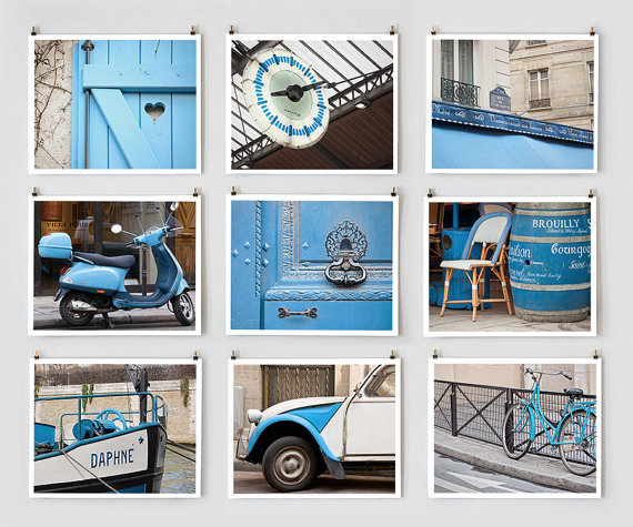Paris Photo Collection, Blue - Fine Art Photographs - Giclée Prints