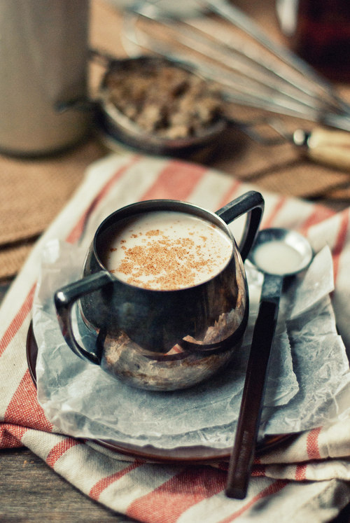 Warm coconut milk