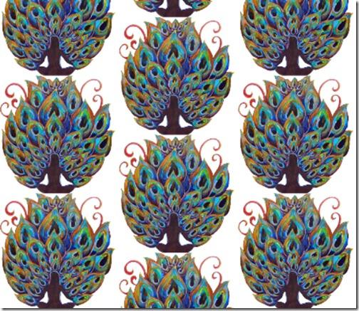FAT QUARTER DIGITAL_peacock