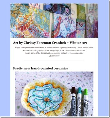 winter art newsletter 2012