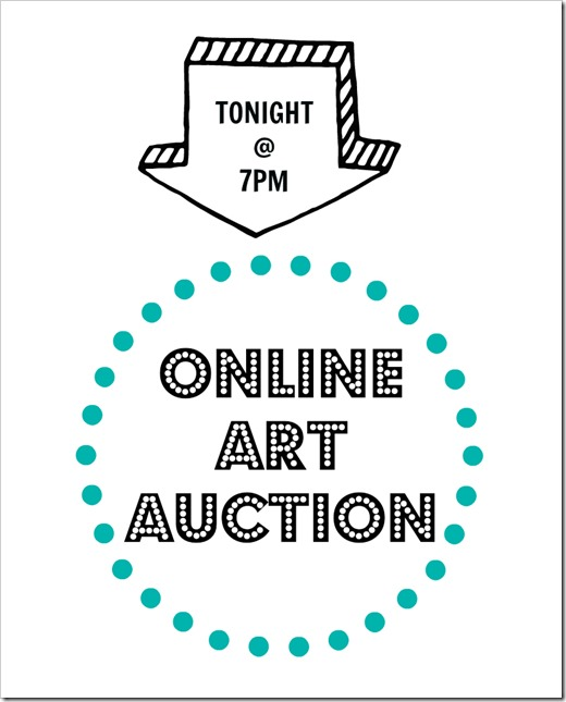 ONline art auction_tonight at 7pm