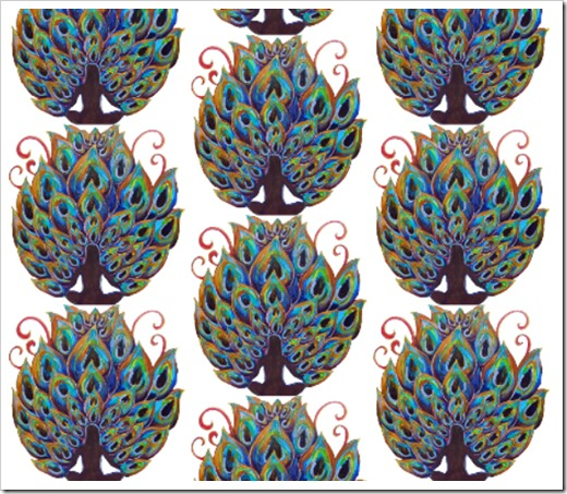 FAT QUARTER DIGITAL_peacock