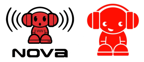 Nova FM logos old and new