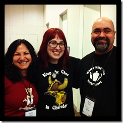Me and Nadia with Rebecca Watson at the Australian Skeptics Convention 2013