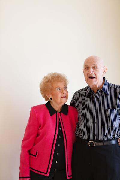 atria senior living photoshoot couple