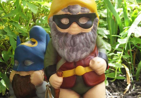 Awesome Superhero Garden Gnomes Fight Backyard Evil