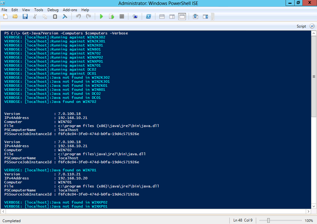 Verifying Patching with PowerShell (Part 1 Finding the Java Versions)