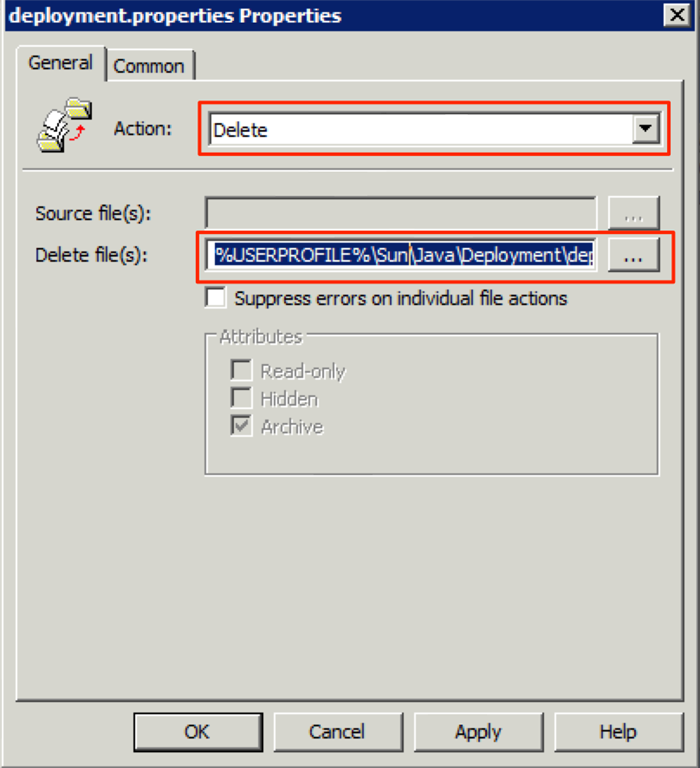 Pushing Security Configuration for Java 7 Update 10 via GPO