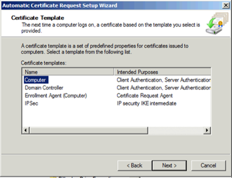 Configuring network level authentication for rdp now we select computer configurationpolicieswindows settingspublic key policies under that node we double click on certificate services client yelopaper Gallery