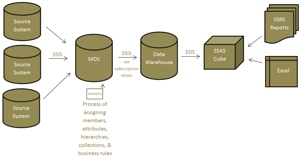 Relating Master Data Services Hierarchies to Analysis