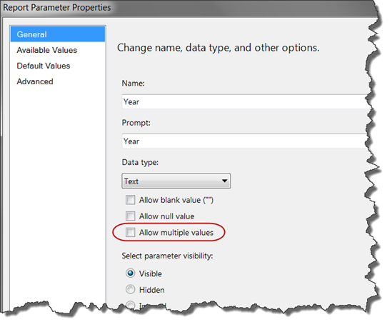Displaying Single & Multi-Valued Report Parameter Selections