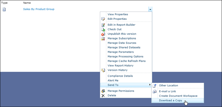 Reverse Engineering a SharePoint Integrated Mode SSRS Report