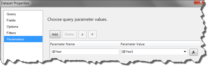 Relating Parameters & Filters in SQL Server Reporting Services — SQL