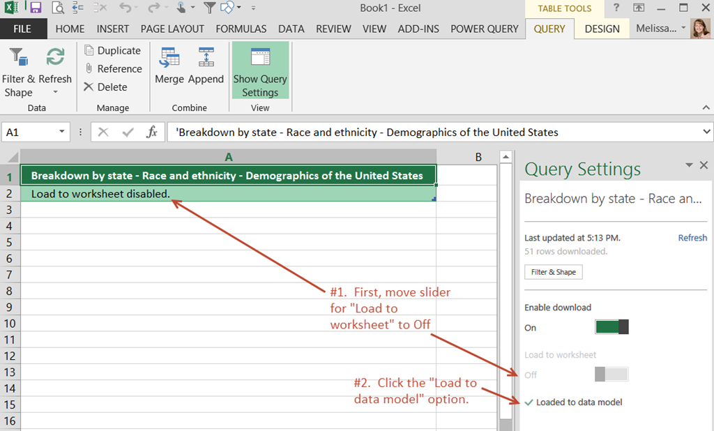 Power Query Data–Should it be Loaded to the Worksheet? — SQL