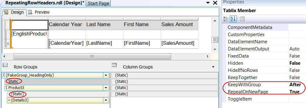 Repeating Column Headers on Every Page in SSRS Doesn't Work