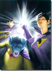The Wonder Twins with Gleek - Art by Alex Ross