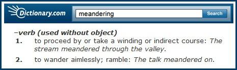 MeanderingDICT