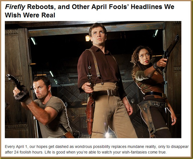 SCN Reports Firefly Reboot Unlikely — Abalook