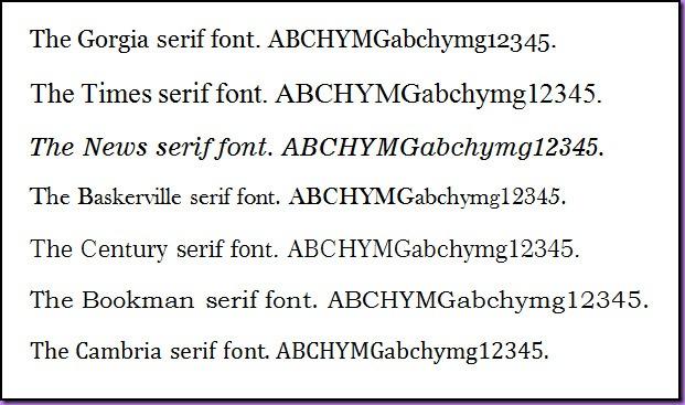 SerifFonts